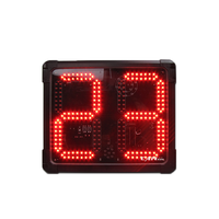 Ganxin remote control led clock with 2 digits and 8 inches