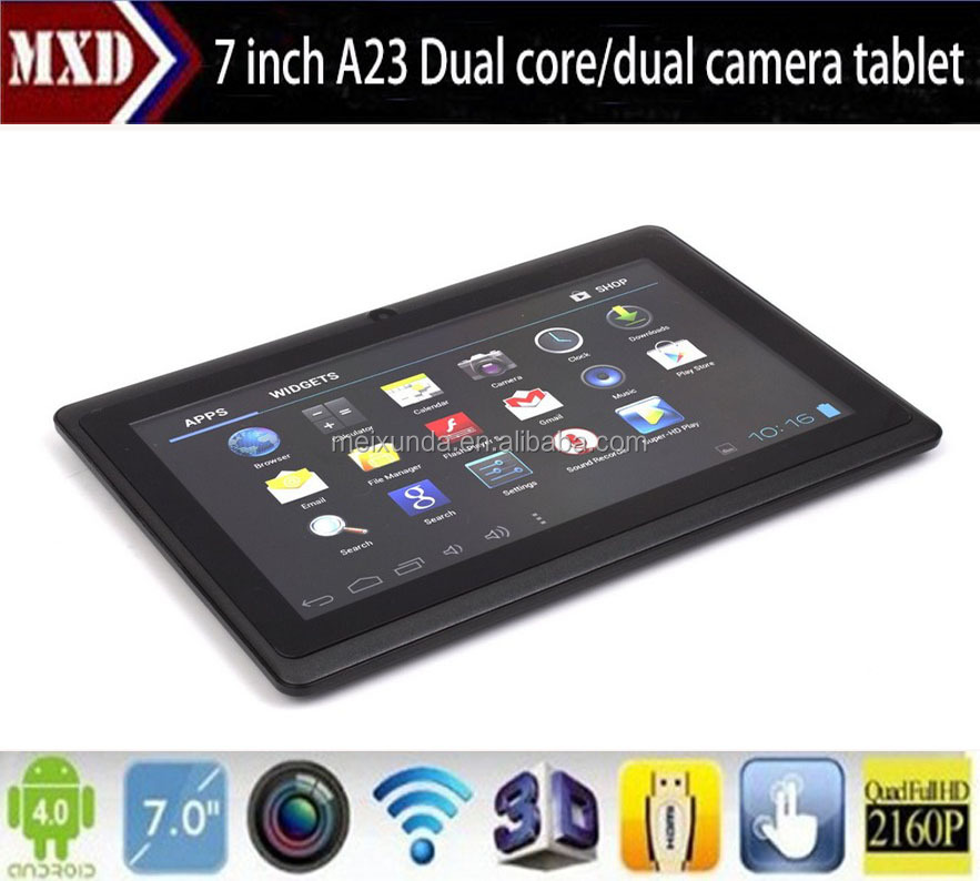 The cheapest tablet pc 7 inch Q88 android 4.2, allwinner A23,1.2Ghz,512+4G HDD,camera,wifi
