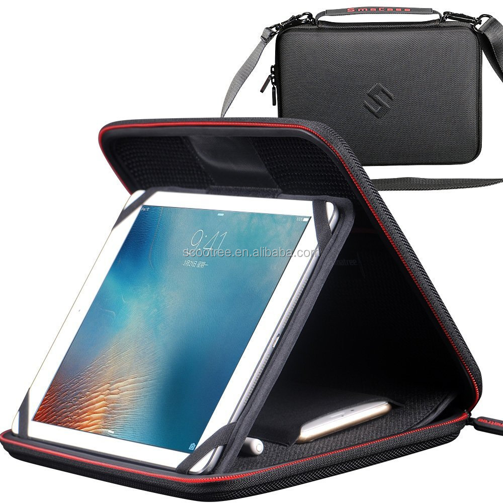 Smatree Hard Carrying Case for <strong>iPad</strong> Pro 9.7 inch, 2017 New <strong>iPad</strong> 9.7 inch with Adjustable Stand and Pocket for iPhone 7,Plus