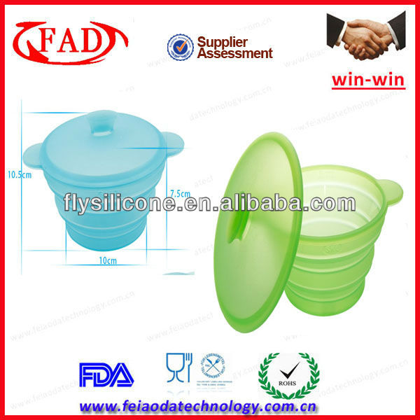 Eco-friendly Nonstick Microwave Safe Silicone Bowls