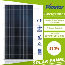 High quality A-grade cell high efficiency pv module, poly 315W solar panel price made in China