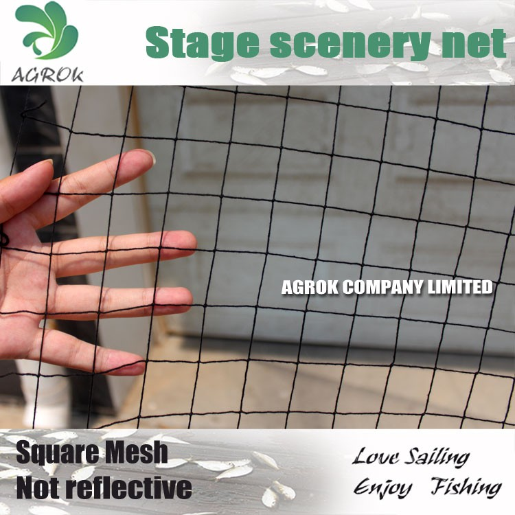 Square Mesh Cotton Polyester Blend High Density Stage Scenery Net