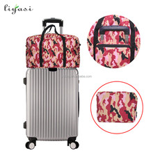 Folding vantage crossing premium oxford fabric foldable sky travel luggage bag for travelling