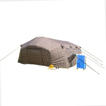 2017 new design inflatable large orange outdoor military hospital tent