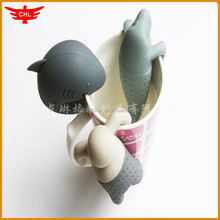 lovely animal design Mr tea infuser silicone