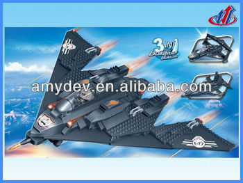 2013 Hot sale 402pcs Military Aircraft plastic Building Blocks toys set