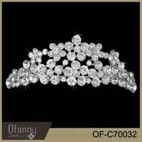 Silver plating wholesale pageant crowns and tiaras