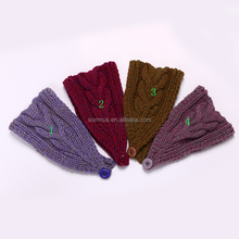 Solid Color Decorative Cotton Thread Knitted Elastic Warm Hair band/Headband