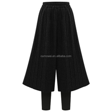 Oumowei new design long cutting of ladies trousers design