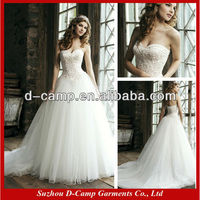 WD-510 Fancy crystal beaded corset bodice tulle ball gown pakistani bridal dresses pictures beautiful bridal dress