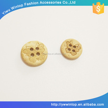 fancy 2 holes round shape natural coconut button with custom logo