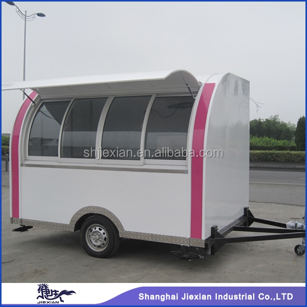 2015 China famous brand JX-FS290D. portable mobile food vending tricycle for sale