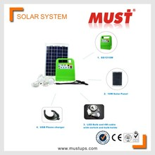 10W Portable solar power bank mini solar system with mobile charger