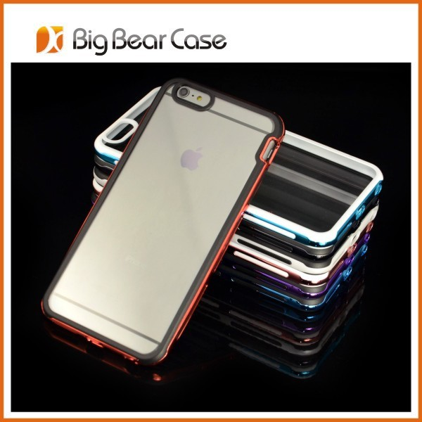 Clear back cover bumper case for iphone 6 plus