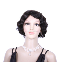 100% Human Hair Lace Front Wig Short Wigs for Old Lady