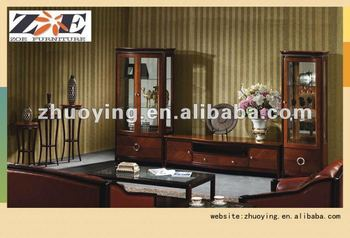 New Classic TV Cabinet Designs For Lcd Wall Unit Living