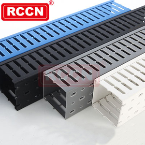 RCCN High Quality Pvc Cable Duct VDRF Closed Slot Wiring Duct slotted Wide slot design flexible cable