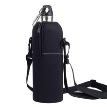 Stainless Steel Beer neoprene water bottle holder with straps