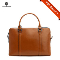 Custom Mens Leather Briefcase/Lawyers Briefcase/Shoulder Crossbody Laptop Business Bag