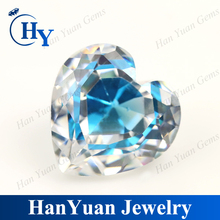 Wuzhou charming heart shape multi-color cubic zirconia CZ gems