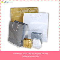 Fashion art paper bags with glossy laminated paper shopping bag