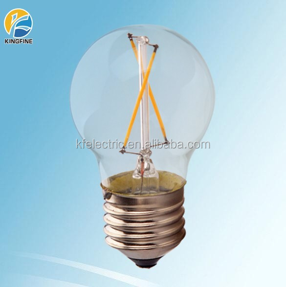 CE RoHS PSE Listed Full Glass E27 80Ra LED Filament Bulb G45 3W