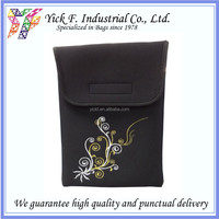 Elegant Embroidery Neoprene Black Color 10 inch Laptop bag / Laptop Sleeve