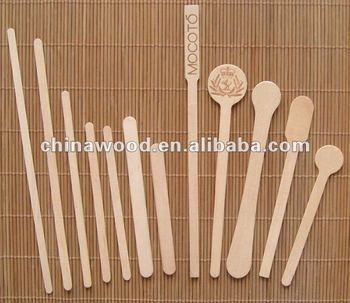 Wooden drink stirrers