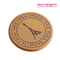 wholesale Blank Drink Coasters Custom MDF Eco Friendly Cork Wooden Coasters