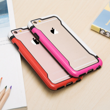 China mobile free sample phone case 2 tone colorful PC TPU bumper Case for iPhone 6 5.5""
