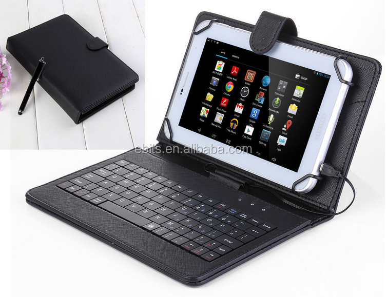 Elegant cover with keyboard tablet cover for ipad air 2 leather case