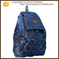 simple leisure sport cowboy punk canvas backpack alibaba china supplier