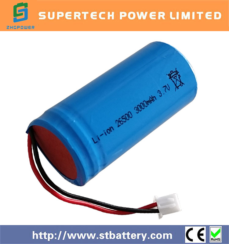 Rechargeable Lithium 26650 Li-ion Battery 3.7v 3000mAh Cell
