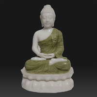 Hand carved white marble buddha for decorative