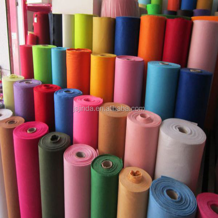 Colorful Needle Punched Nonwoven Felt in rolls