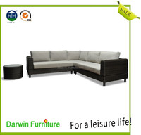 Popular Outdoor Furniture Garden Synthetic Wicker Sofa