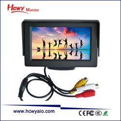 Dash Mount 5 inch LCD Monitor 5 TFT LCD Car Monitor With 2AV Input