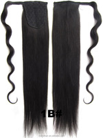 "Human Hair Ponytails Blonde Color 18"" 22"" Remy Hair Brazilian Virgin Pony tails Hair Extensions"