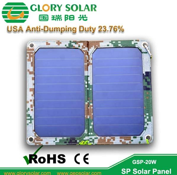 Excellent Quality Sunpower USB Port Outdoor Camouflage Phone Battery portable Solar Charger 13W 5V 2A For Military Use