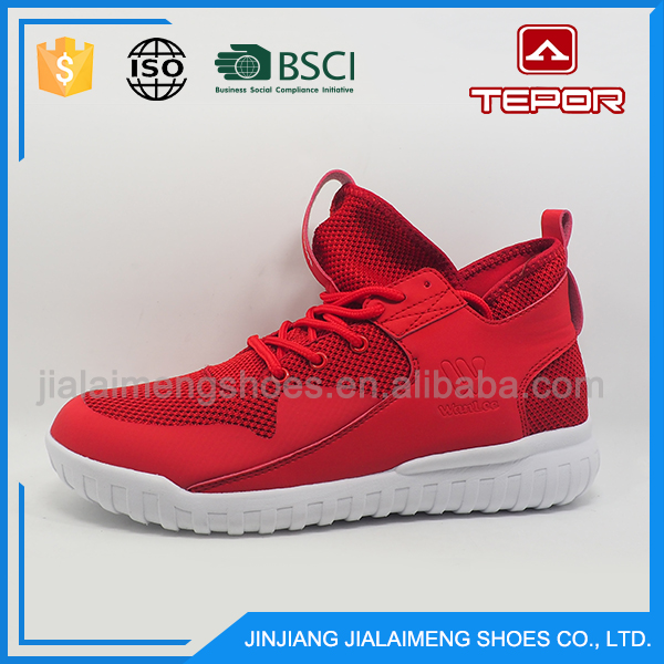 Factory directly durable cozy student top grade red brand shoes for men
