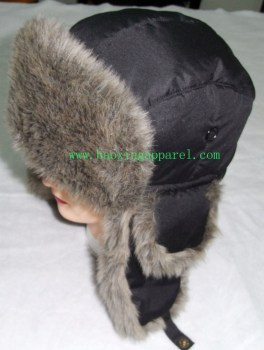 nylon polyester russian fur hat