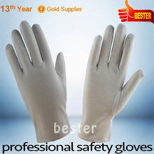 INSPECTION usage customized China cotton fabric white ceremonial glove