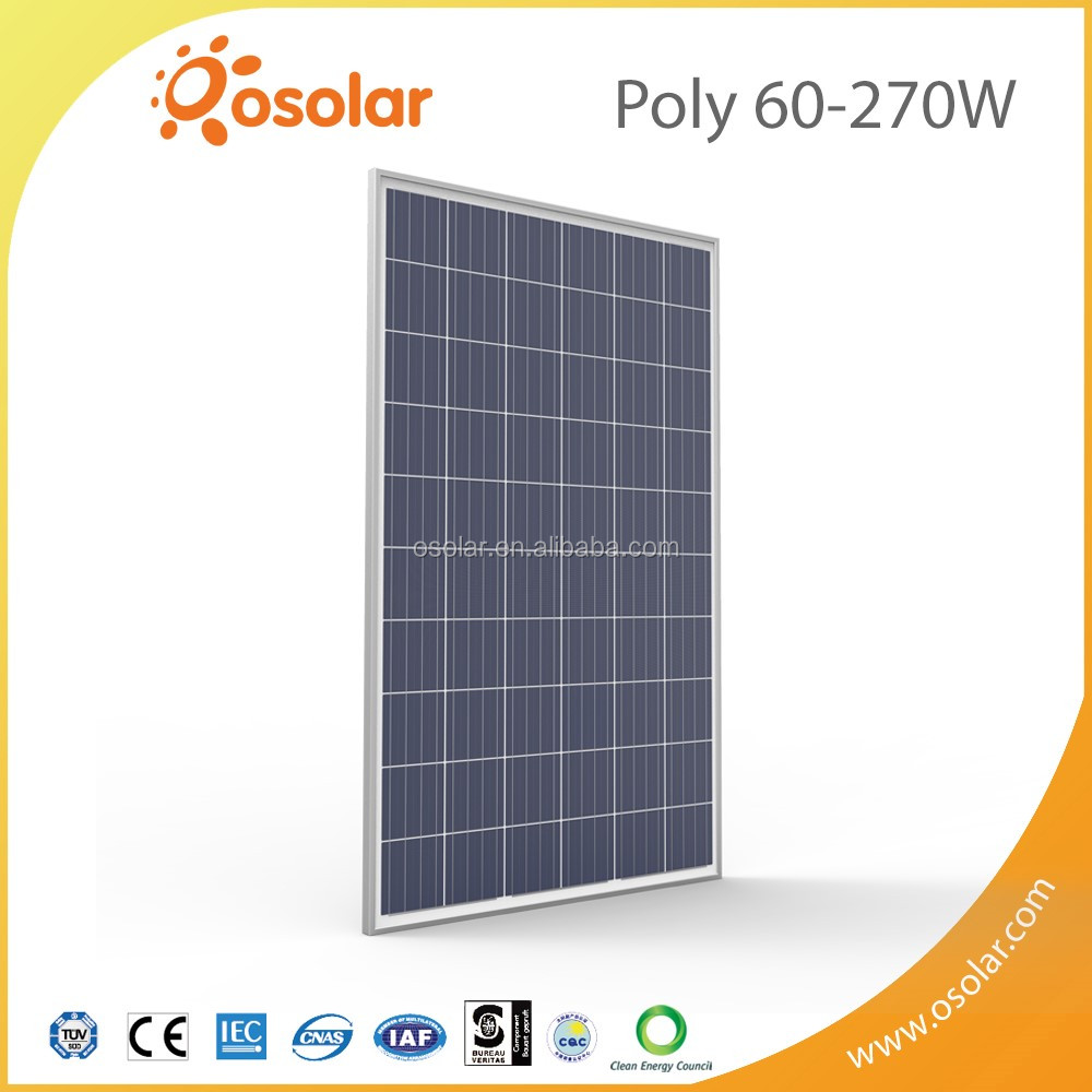 Factory Direct Sale High Quality Silver Poly 270W Roof Solar Panel With best price | Solar Panel