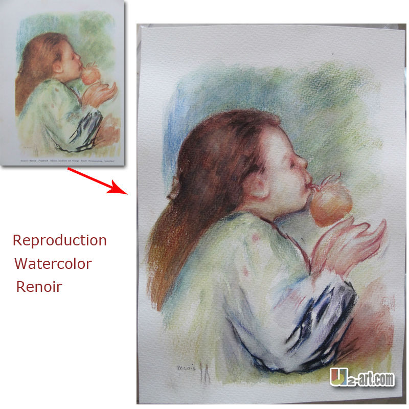 Pierre-Auguste Renoir Custom Watercolor painting