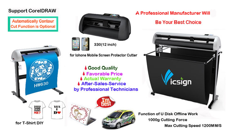 Best selling servo motor silhouette laser sticker cutting machine Automatic reflective sheet vinyl cutter