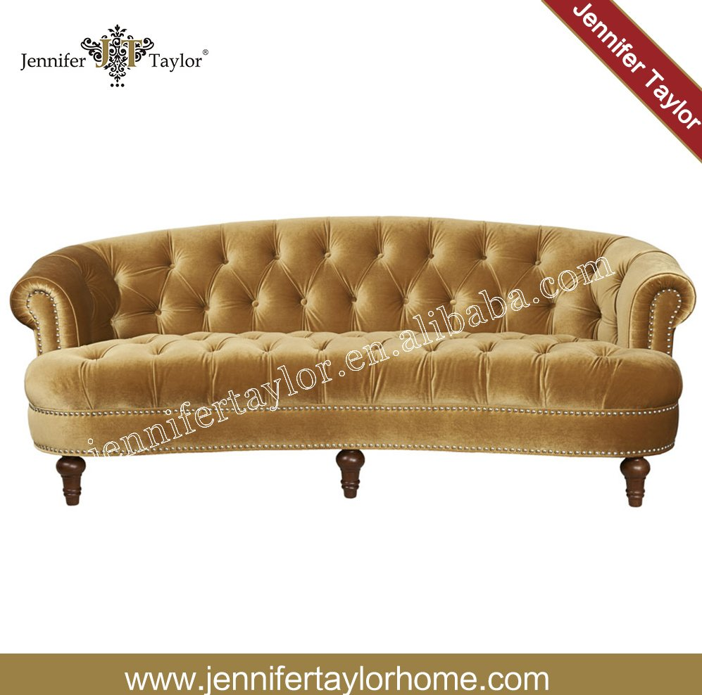 Italy home furniture fabric sofa/living room furniture 3 seat chesterfield velvet sofa