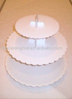 PMMA lowest prices milk white 3 tiers acrylic cake stand