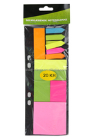 different shape sticky note pad with wooden pallet for office&school