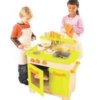 Wooden pretend play kitchen set toy for kids