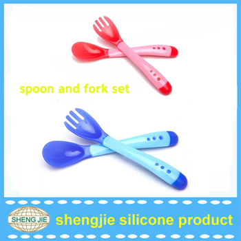 China manufacturing baby spoon set novelty cheap baby color change spoon